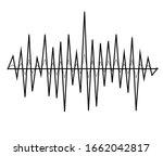 black music sound waves. audio... | Shutterstock .eps vector #1662042817