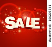 red banner sale  | Shutterstock .eps vector #166205561