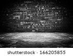 Old Dark Room With Brick Wall...