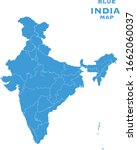 blue map of india new india map ... | Shutterstock .eps vector #1662060037