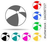 beach ball multi color style...