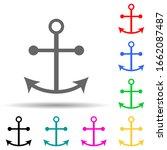 ship's anchor multi color style ...