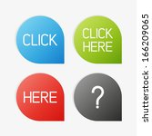 clean vector color set of click ... | Shutterstock .eps vector #166209065
