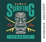 vintage surfing paradise label... | Shutterstock . vector #1662115537