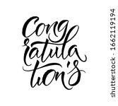 congratulations card. hand... | Shutterstock .eps vector #1662119194