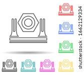 shine multi color style icon....