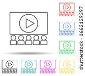 cinema multi color style icon....