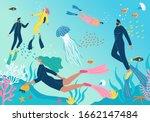 scuba diving club vector... | Shutterstock .eps vector #1662147484