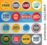 colorful promo labels and...
