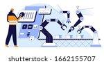 conveyor configurations flat... | Shutterstock .eps vector #1662155707