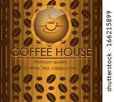 vintage style coffee house menu ...   Shutterstock .eps vector #166215899