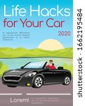 life hacks for your car poster...   Shutterstock .eps vector #1662195484