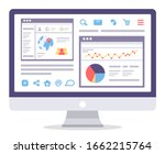 web analytics information and... | Shutterstock .eps vector #1662215764