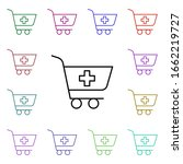 shopping cart multi color style ...