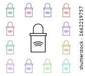 padlock multi color style icon. ...