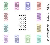 pill packet multi color style...