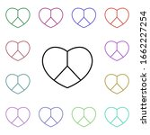 heart and peace symbol multi...