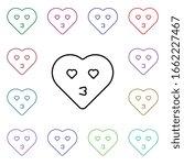 emoji hearth kiss multi color...