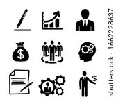 flat business icons. vector eps ... | Shutterstock .eps vector #1662228637