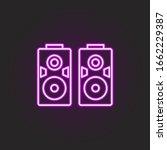 rock speakers neon style icon....
