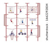 activity children in extreme...   Shutterstock .eps vector #1662292834