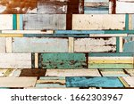 Many Wooden Planks Form A...