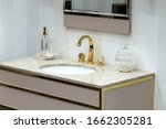 A Beautiful Washbasin With A...