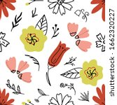 cute seamless pattern with hand ... | Shutterstock .eps vector #1662320227
