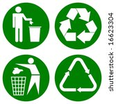for various recycle icons on a... | Shutterstock . vector #16623304