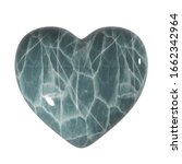 simple grey stone heart with... | Shutterstock . vector #1662342964
