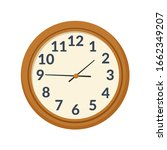 round wall clock on white... | Shutterstock .eps vector #1662349207