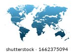 world map  detailed country map ... | Shutterstock .eps vector #1662375094