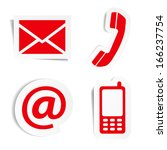 website and internet contact us ... | Shutterstock .eps vector #166237754