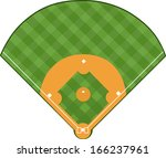 baseball field | Shutterstock .eps vector #166237961
