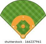 baseball field | Shutterstock .eps vector #166237961