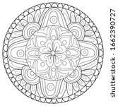 adult coloring book page a zen...   Shutterstock .eps vector #1662390727