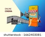 online cinema on website or...   Shutterstock .eps vector #1662403081