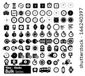 time adn clocks icons   bulk... | Shutterstock .eps vector #166240397