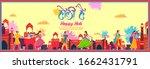 illustration of colorful... | Shutterstock .eps vector #1662431791