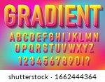 fresh gradient color alphabet... | Shutterstock .eps vector #1662444364