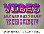 strong bold vibes modern... | Shutterstock .eps vector #1662444457