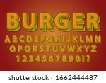burger food 3d style alphabet... | Shutterstock .eps vector #1662444487