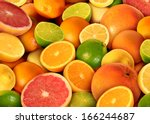 citrus fruit background with a... | Shutterstock . vector #166244687