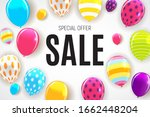 abstract party sale background. ... | Shutterstock . vector #1662448204
