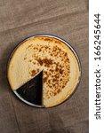 homemade new york cheesecake | Shutterstock . vector #166245644