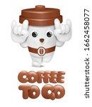 cartoon coffee cup cute...   Shutterstock .eps vector #1662458077