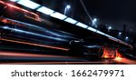 High Speed  Black Sports Car...