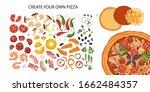 italian cheese pizza creator...   Shutterstock .eps vector #1662484357