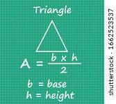 triangle area formula...   Shutterstock .eps vector #1662523537