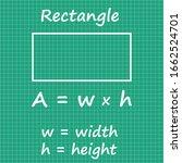 rectangle area formula...   Shutterstock .eps vector #1662524701